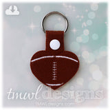 Football Heart Key FOB