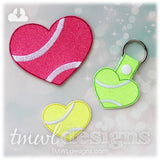 Tennis Heart Key FOB