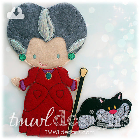 Evil Kitty Felt Paper Doll Companion