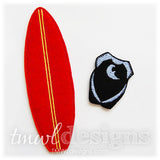 Surfboard Felt Paper Doll Accessories