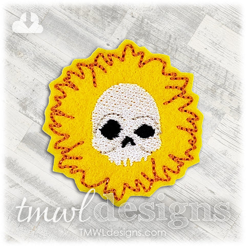 Sunflower Skull Feltie