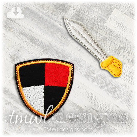Sword & Shield Felt Paper Doll Accessories