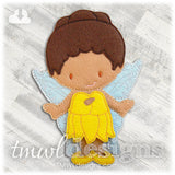 Sunflower Fairy Dress Felt Paper Doll Outfit