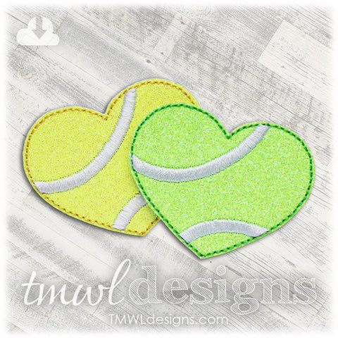 Tennis Heart Feltie