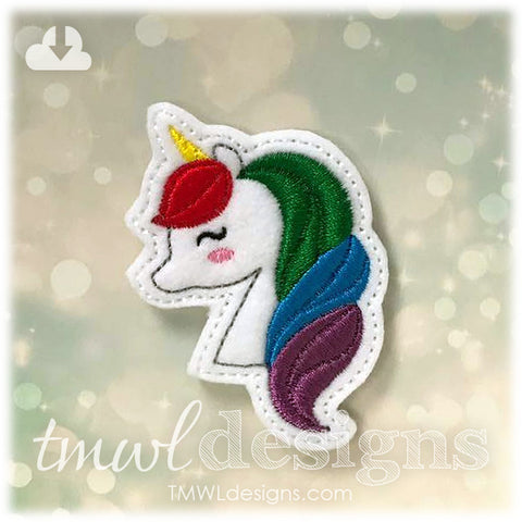 Unicorn Head Feltie