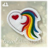 Unicorn Tail Heart Feltie