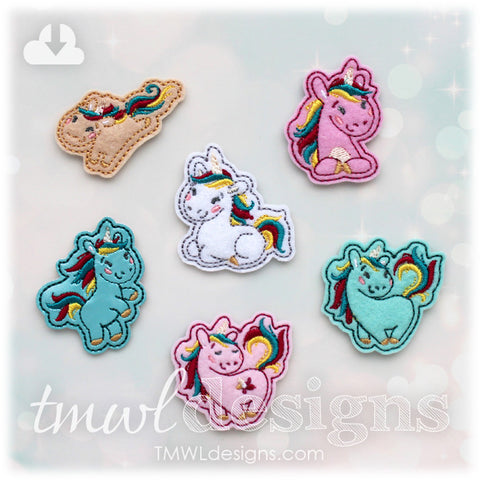 Unicorn Feltie Set