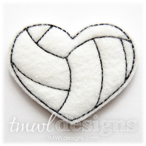 Volleyball Heart Feltie