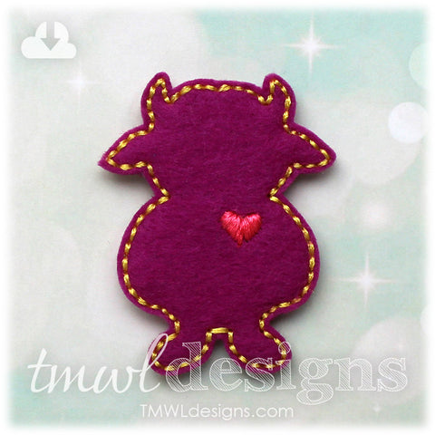 Wild Thing Love Monster Silhouette C Feltie