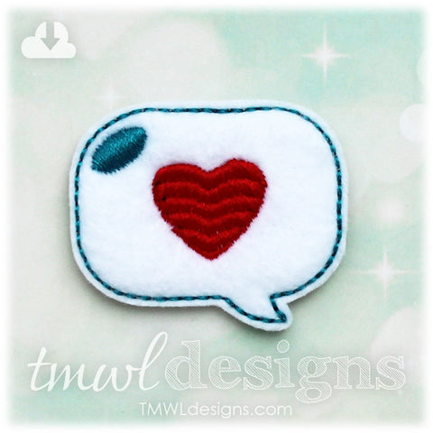 Heart Talk Bubble Feltie