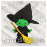 Wicked Witch Dress Felt Paper Doll Outfit