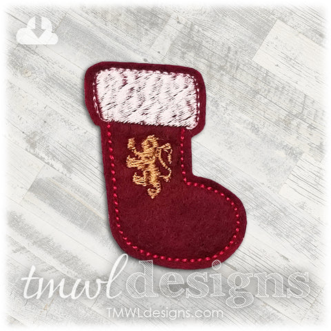Wizard School Lion Stocking Feltie