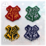 Wizard School Coat of Arms Shield Crest Feltie