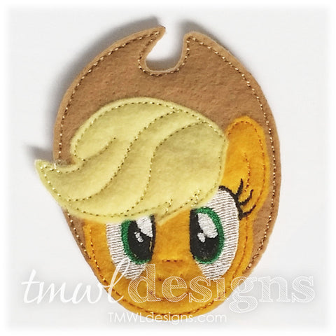 Apple Pony Head Feltie