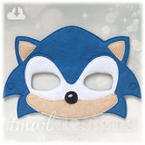 Blue Hedgehog Mask