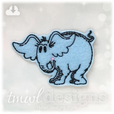 Horty Elephant Feltie
