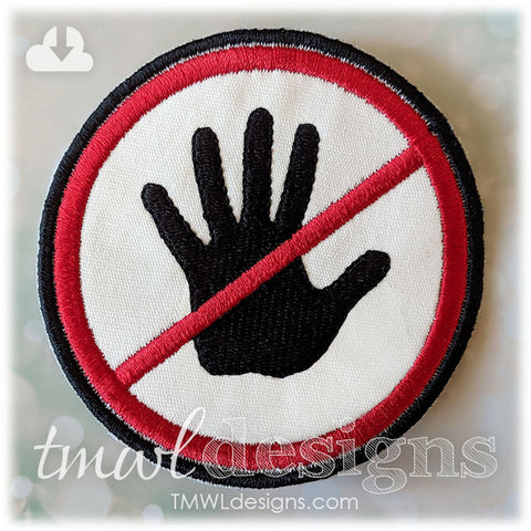 No Pet or Touch Hand Patch