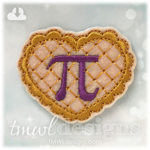 Pi Pie Heart Feltie