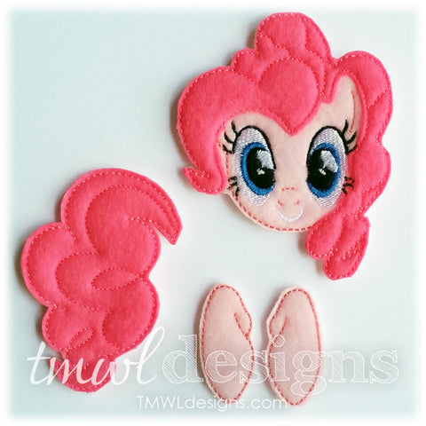 Pinkie Pony Bow Parts