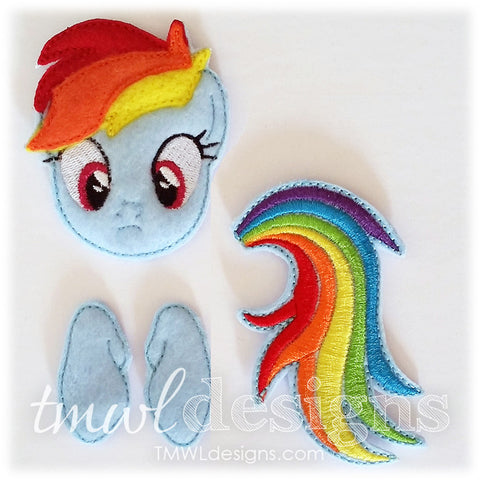Rainbow Pony Bow Parts
