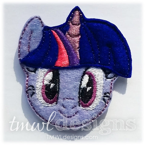 Twilight Pony Head Feltie