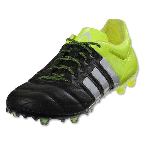 30844b8df2e8 ... release date adidas ace 15.1 fg ag leather black white solar yellow  335cd 0adcf