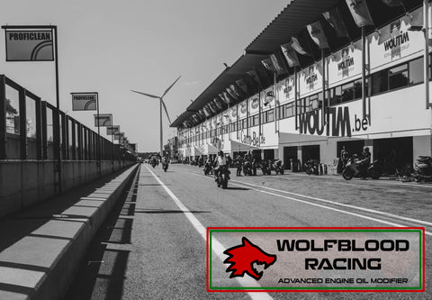 Wolfblood Racing racetrack picture engine oil modifier tube