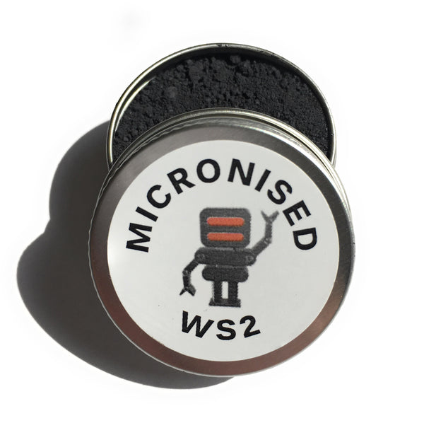 Micronised WS2 - Tungsten Disulphide - powdered lubricant for engine rebuilds, robots, 3D printers, cycling etc use powder directly or as an additive to oil or grease for ULTRA low friction 10ml