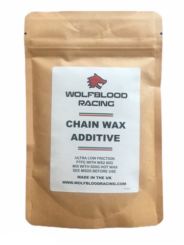 WBR PTFE and WS2 Tungsten Disulphide, our best Cycle Chain Wax additive