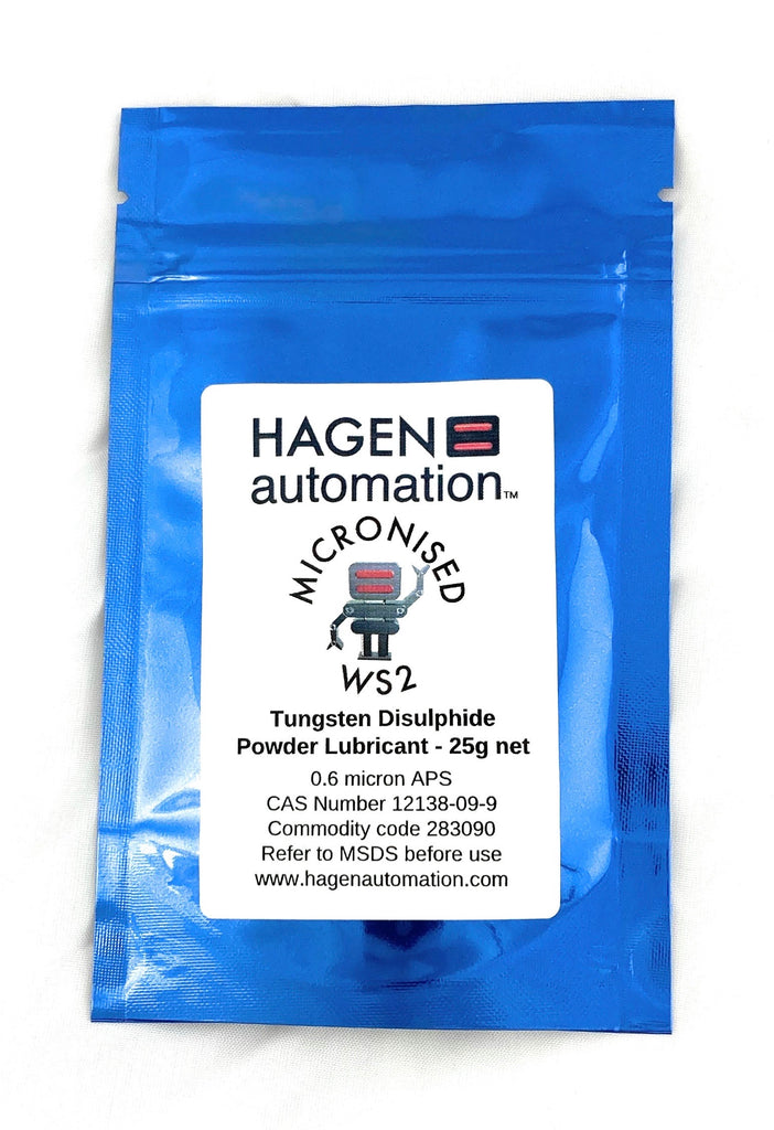 25g 0.6 micron APS Micronised WS2 - Tungsten Disulphide - ultra performance powder lubricant