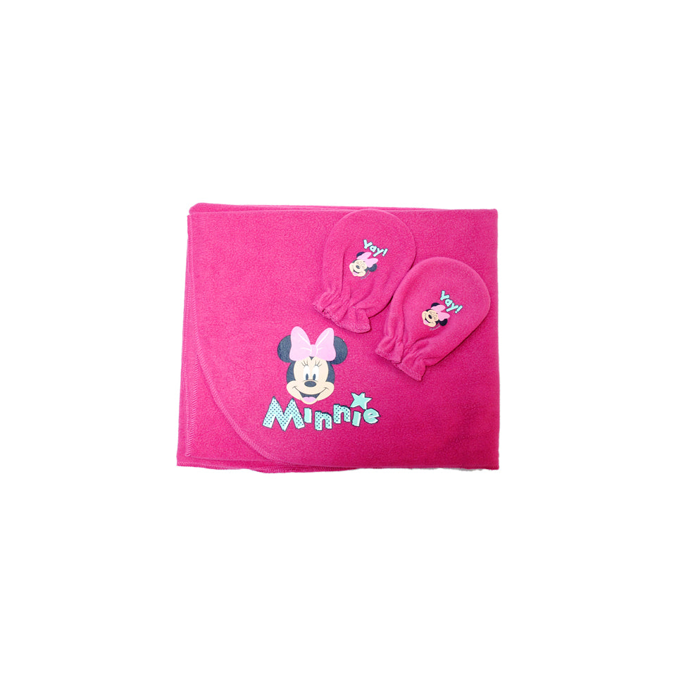 Cobertor con Manoplas Polar Minnie