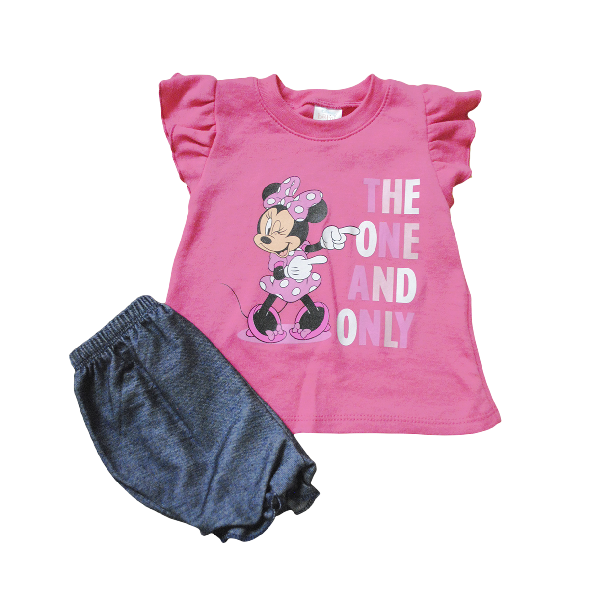 Set Bebita 2 Piezas Blusita y Short Minnie