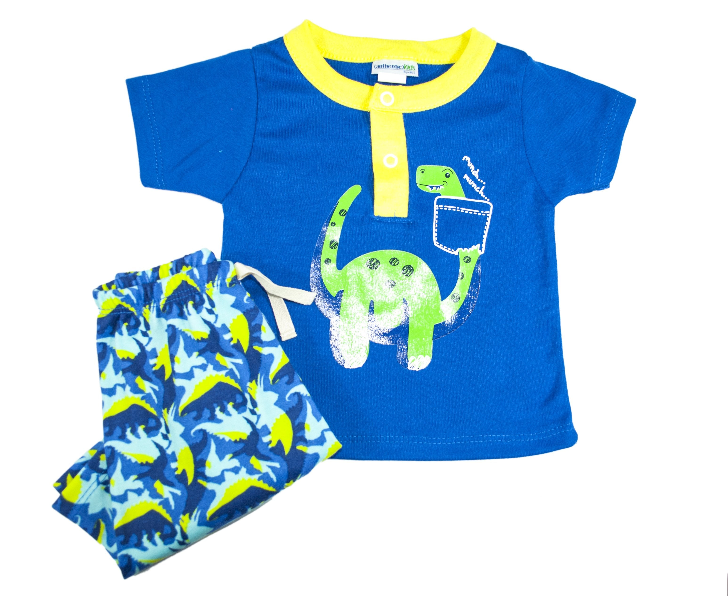 Set para Bebo de 2 pz Playera y Bermuda color Azul