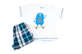 Set para Niño de Playera y Short Blanco