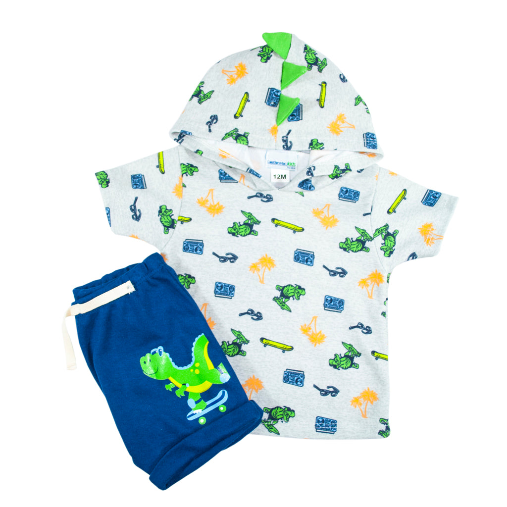 Set para Bebo de 2 pz Playera y Short Jogger Azul