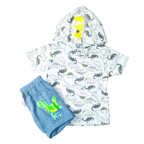 Set para Bebo de 2 pz Playera y Short Jogger Gris