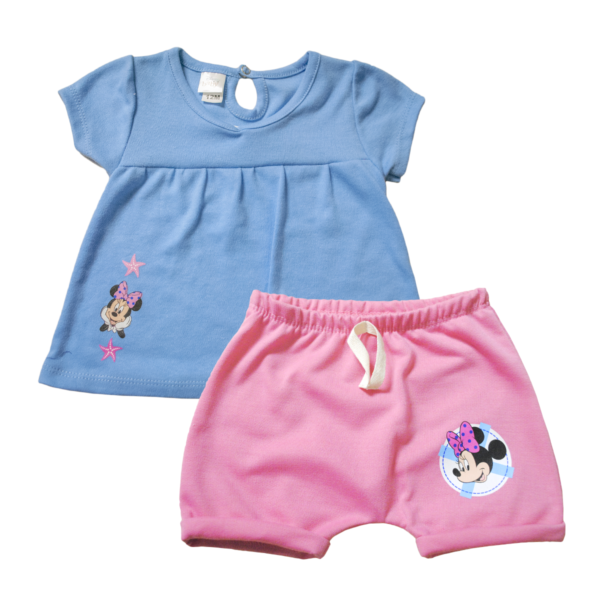 Set 2 Piezas Bebita Short y Blusita Minnie