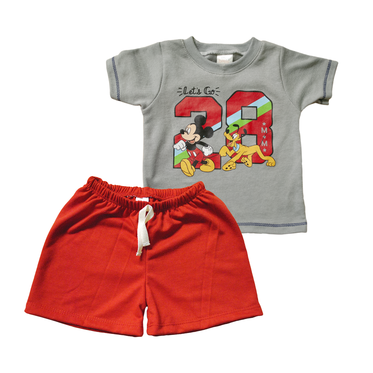 Set Bebito Playera y Short Mickey