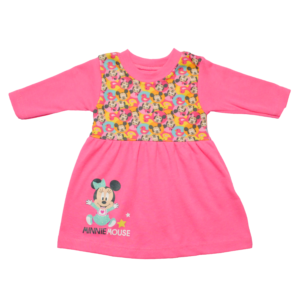 Vestido Beba Manga Larga. Minnie Mouse.