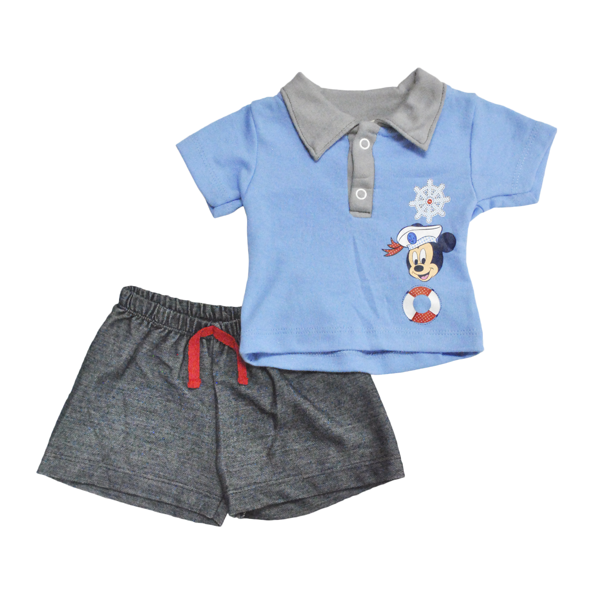 Conjunto Bebito Playera Polo y Short Mickey