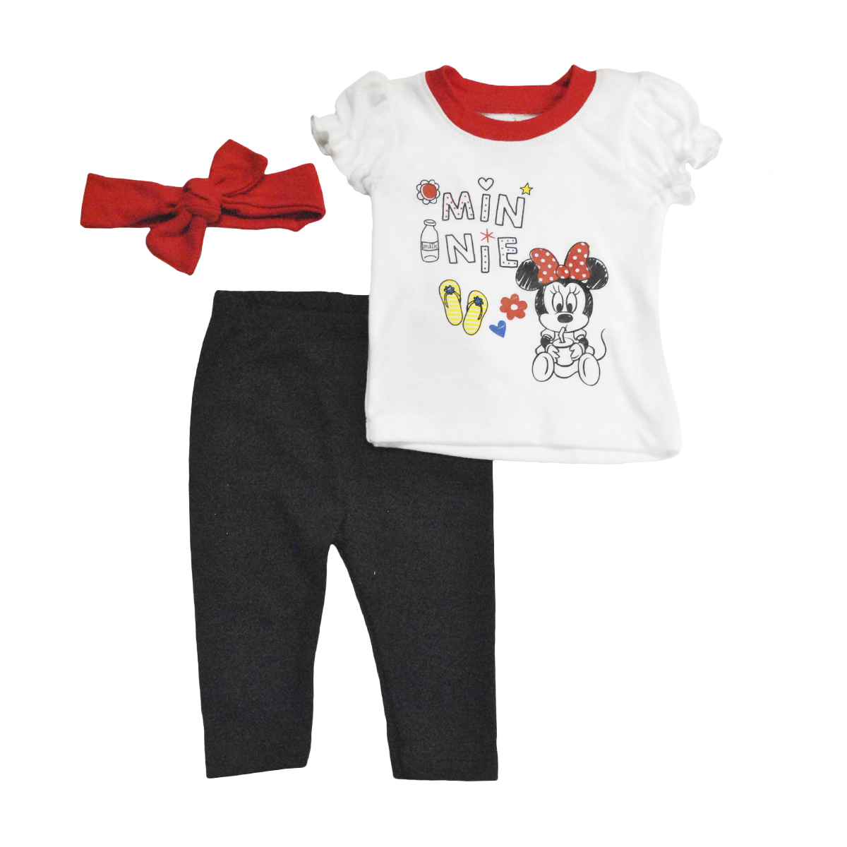 Set Bebita Playera Mallón y Bandita Minnie