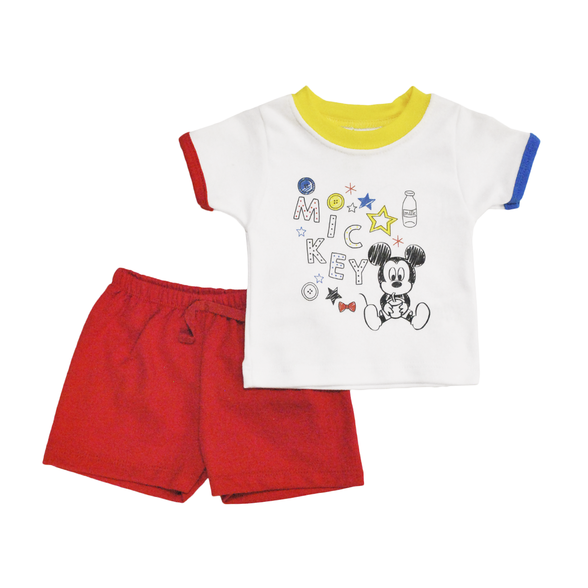 Conjunto Bebito Playera y Short Mickey