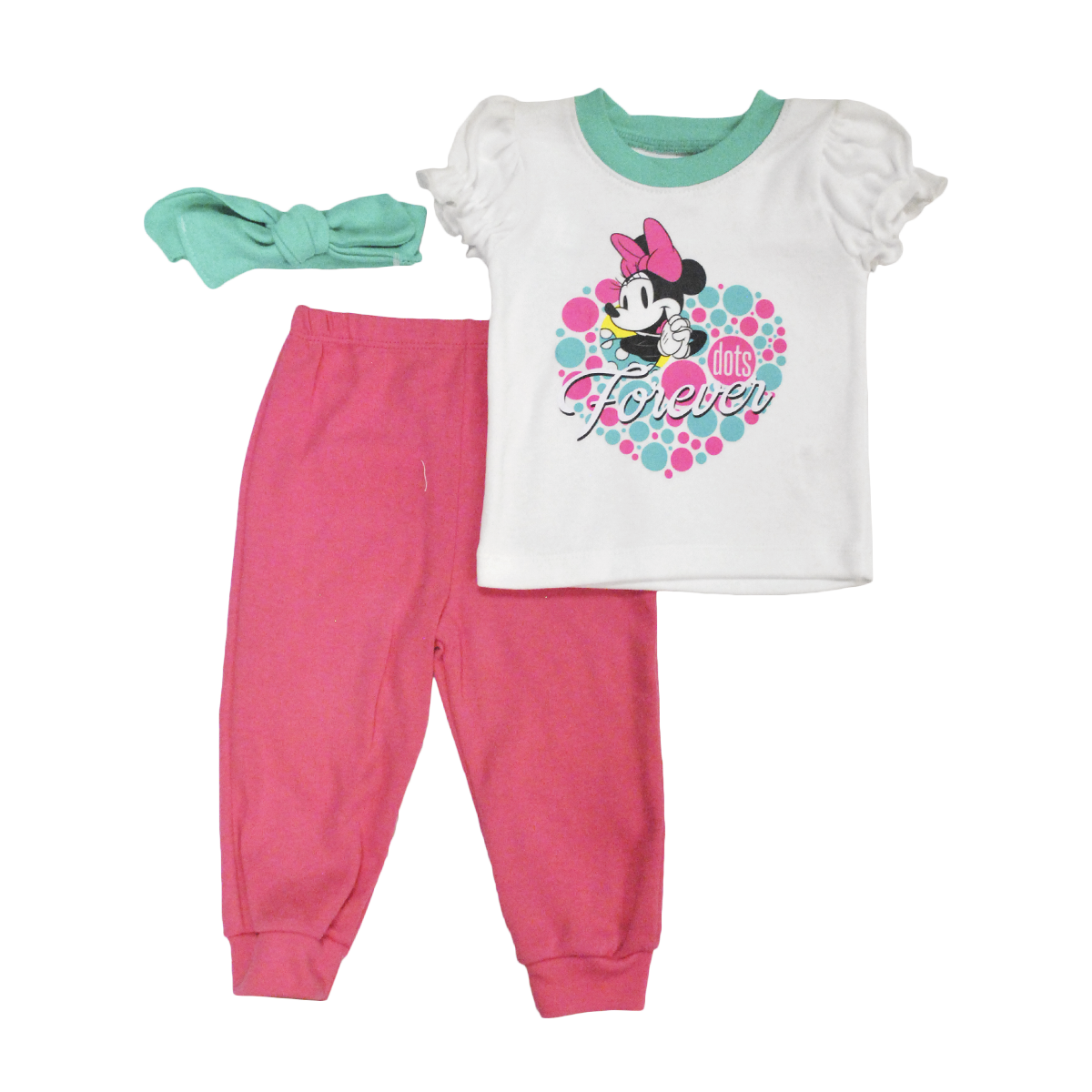 Set Bebita Playera Pantalón y Bandita Minnie
