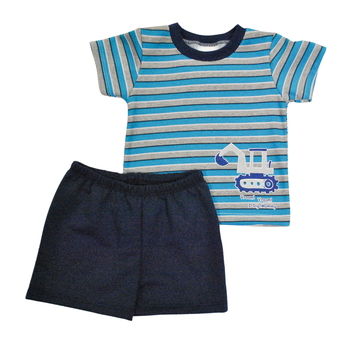 CONJUNTO BEBO 2 PZAS; PLAYERA Y SHORT