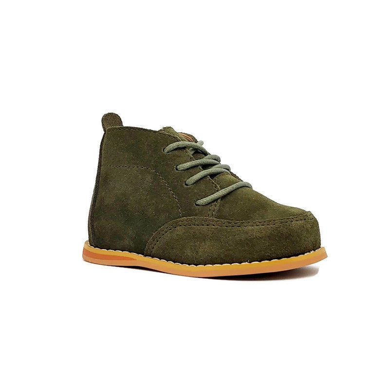 Vintage Suede Wallabees - Olive - Tippy Tot Shoes