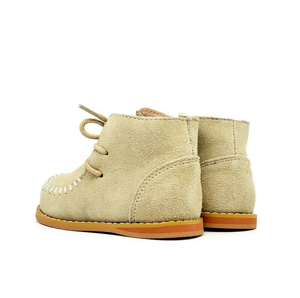 Vintage Suede Boots - Stone - Tippy Tot Shoes