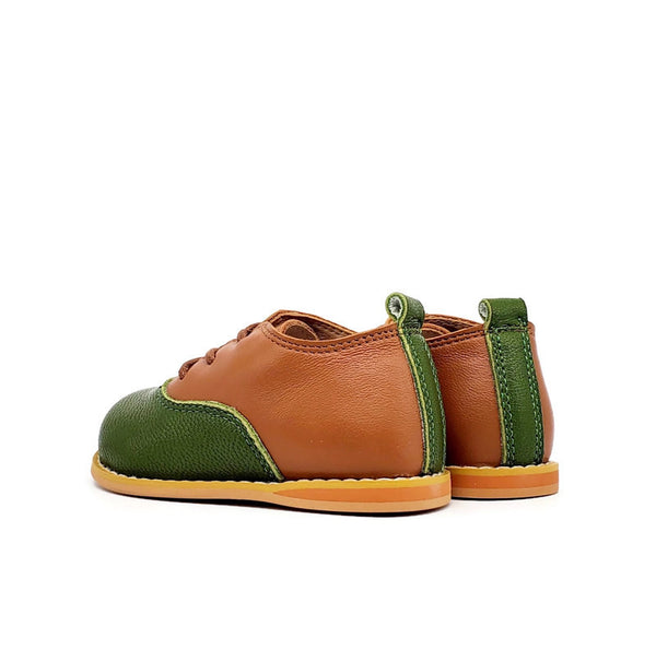 Vintage Oxford Low-Top - Brandy/Green Apple - Tippy Tot Shoes
