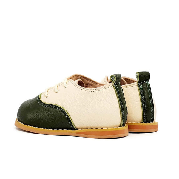 Vintage Oxford Low-Top - Bone/Olive - Tippy Tot Shoes