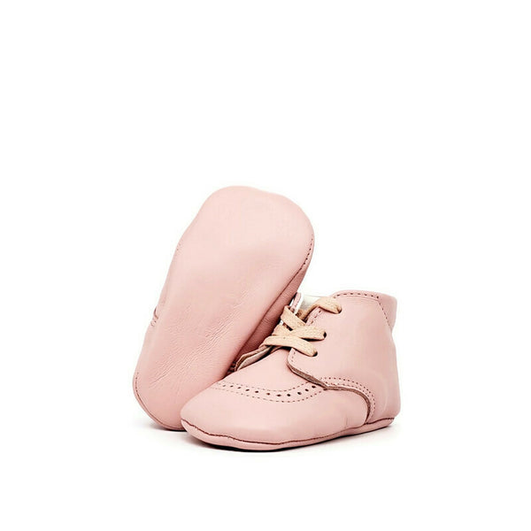 Baby Crib Shoes - Blush Pink - Tippy Tot Shoes