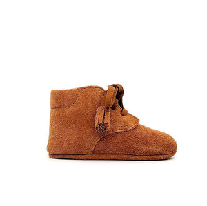 Baby Crib Shoes - Tan Suede + Tassel - Tippy Tot Shoes